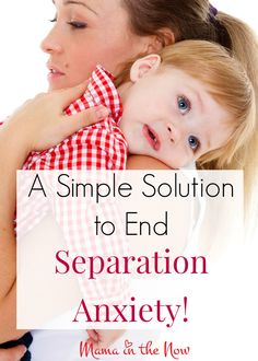 Do you wish for mornings without tearful departures? This simple solution will put an end to separation anxiety. It worked for us!