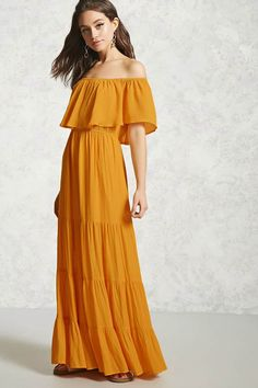 J2017  Off-the-Shoulder Maxi Dress