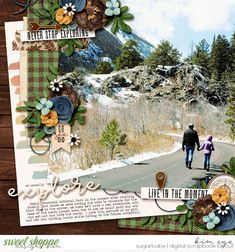 Digital scrapbook layout using Go Explore by Digital Scrapbook Ingredients; and Stacked Paper Templates No.2 by WendyP Designs (found at Sweet Shoppe Designs)
