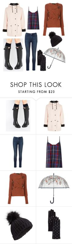 """""""rainy winter days"""" by justjess1990 ❤ liked on Polyvore featuring Hunter, Topshop, L'Agence, Vivienne Westwood Anglomania, Vera Bradley, Miss Selfridge, Echo and Boots"""