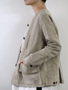 chrissie jacket, belgian linen - envelope