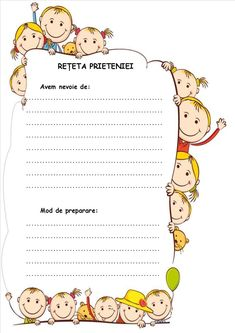 Rețeta prieteniei.Dezvoltare personală - fișe de lucru: rețeta prieteniei, bilet de apreciere a unui coleg de clasă, inimă uriașă After School, Pre School, Little Einsteins, Conversation Cards, Muscular System, Hidden Pictures, Team Building Activities, Home Schooling, Kids Education