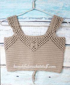 Crochet Crop Top Free Pattern (Forever 21 Style) | Beautiful Crochet Stuff