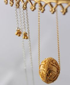 24k yellow gold vermeil etruscan traditional by kekajewelry, $107.00