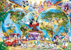 Disney Characters and their homelands.