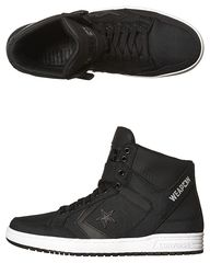0049a90400 CONVERSE WEAPON MID SHOE - BLACK BLACK WHITE. Get marvelous discounts up to  50% Off at SurfStitch using coupon and Promo Codes.