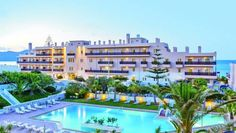 Santa Marina Beach Hotel Agia Marina The Santa Marina Hotel is located only 8 kilometres from the picturesque and famous city of Chania, on a long sandy beach, in one of West Crete's most beautiful regions, the village of Agia Marina.