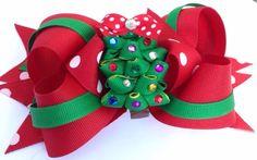 Christmas Hair Bow Dog Collar Bow Dog Collar by CreateAlley, $16.00