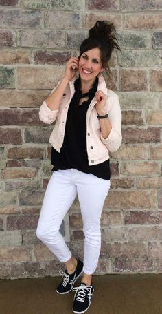 White pants, sneaker