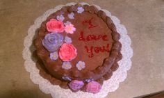 #wiltoncontest / In course 1 I also learned how to do roses and flowers in buttercream, write on cakes and make chocolate buttercream too!  I took the class in Hobby Lobby in Denton, TX