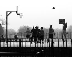 For the win. Street basketball. Black and white. #Street #Basketball #HoopDreams