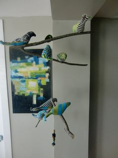 Bird Mobile built on branches