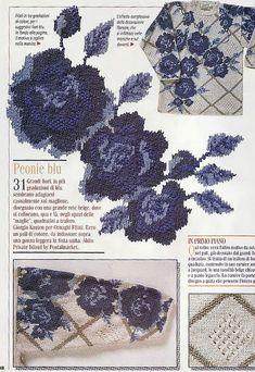 Flower trellis intarsia sweater pattern