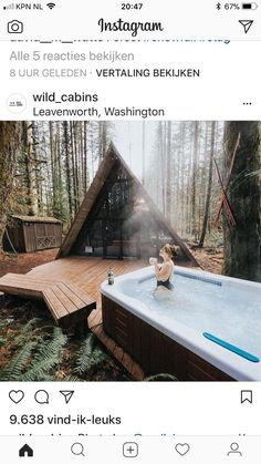 We stumbled across this photo showing a vintage Hot Spring Sovereign at a cabin in the Pacific Northwest, retro-cool if you ask us! #HotSpringSpas