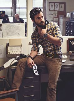 I think the desk is lending this man more creditability than the yellow plaid, but I like it.