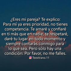 La imagen puede contener: texto Amor Quotes, True Quotes, Funny Quotes, Beautiful Couple Quotes, Bff Birthday Gift, Frases Love, Explanation Text, Quotes En Espanol, Tumblr Love
