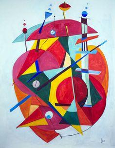 'Red Music' by Leo. Medium: Acrylic. Fine Art Supplier - Drai Fine Art.