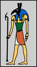 Seth - God of Chaos; represented everythng that threatened the harmony of Egypt; brother of Osiris and Isis; and brother/husband of Nepthys.