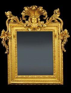 Cambi Casa d'Aste -Specchiera in legno scolpito e dorato, Roma XVIII secolo