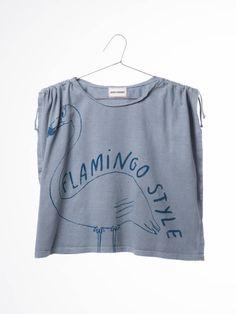 Bobo Choses T shirt drawstring flamingo