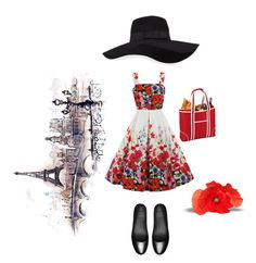 """Parisian market"" by hjarnoe on Polyvore featuring Picnic at Ascot, San Diego Hat Co. and FitFlop"