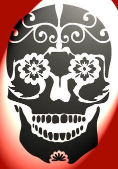 printable stencils for painting pumpkins sugar skull clipart pumpkin carving template 2 - Printable Pages Printable Stencil Patterns, Stencil Templates, Stencil Designs, Skull Template, Sugar Skull Stencil, Stencil Art, Stenciling, Sugar Skull Pumpkin, Airbrush Supplies