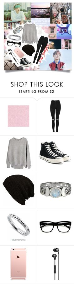 """""You're a cherry blossom, you're about to bloom. You look so pretty but you're gone so soon"""" by katlanacross ❤ liked on Polyvore featuring Cotton Candy, Topshop, Converse, men's fashion and menswear"