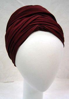 Turban. 1930s-1940s. American