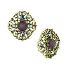 Borges Purple vintage earrings