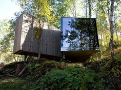 "thekhooll: "" Juvet Landscape Hotel (aka Ex-Machina Nathan's House) Jensen & Skodvin Architects One of two locations that stand in for Ex-Machina Nathan's House, the  Juvet Landscape Hotel is a meeting..."