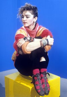 """funkyinhere: Madonna at the UK TV programme """"The Saturday Show"""" 1984 1980s Madonna, Lady Madonna, 80s Trends, Madonna Photos, 80s Fashion, Womens Fashion, Kids Tv Shows, Material Girls, Female Singers"""