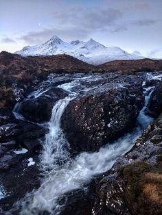 Isle of Skye landscape on a early winter morning's walk, Scotland