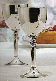 godinger silver goblets | Acorn Goblets