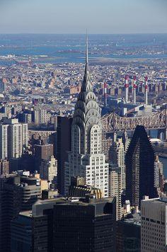 NYC. Chrysler Building, looking East