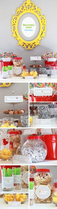 Super creative kids' party ideas - Wizard of Oz sweet table