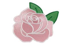 PINK ROSE IRON-ON PATCH