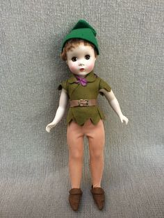 Madame Alexander Hard Plastic Peter Pan Doll All Original Maggie Face | eBay