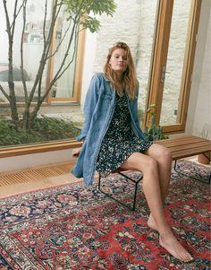 f9683473c3 madewell denim zip-front shirtdress worn with poppy dress. Madewell Denim