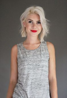 if I ever went with a short blonde hair style: From kellen-andsoitgoes.blogspot.fr