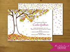 Fall Invitation by SoutherlandCreative on Etsy, $15.00