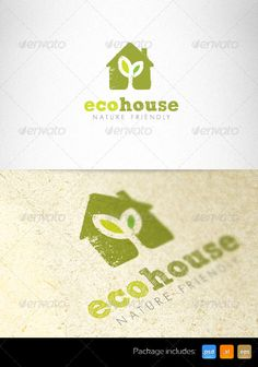 Ecology House Nature Friendly Creative Logo - GraphicRiver Item for Sale