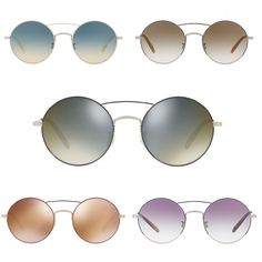 86df1d177d6 Oliver Peoples Round Sunglasses Nickol Metal Rose Gold Black OV1214S  380  NEW  OliverPeoples  Round