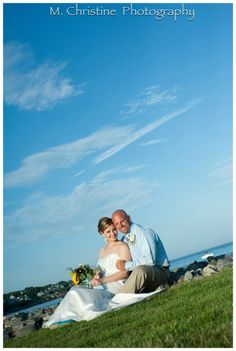 Jenny and Christopher's July 2013 #oceanfrontwedding at Stage Neck Inn, York, ME Photo: M Christine Photography ~ To see more, click photo