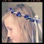 Sonata Hair Garland - Purple Lavender clusters