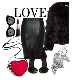 """""""Black and Red"""" by sheilahasanagic ❤ liked on Polyvore featuring Alice + Olivia, Victoria's Secret, Isabel Marant, MAC Cosmetics, CÉLINE, women's clothing, women, female, woman and misses"""