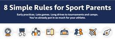 There are simple rules for sport parents any family looking for athletic scholarships should follow. Read this infographic to learn more.