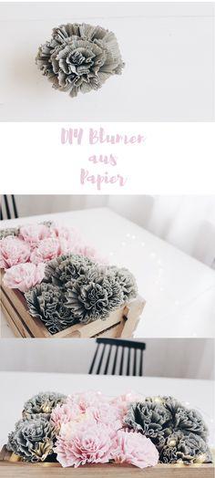 Die Anleitung für DIY Blumen aus Krepppapier