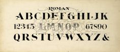 Alphabet in Roman script, undated by Frederick W.Tamblyn The Zaner-Bloser Company. The University of Scranton Special Collections; The Horace G. Located in our Zaner-Bloser online collection University Of Scranton, Roman Alphabet, Types Of Art, Type Art, Vintage Graphic Design, Penmanship, Roman Numerals, Script, Typography
