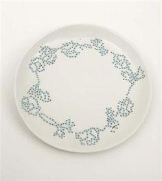 Hella Jongerius  Embroidered plate, 2000