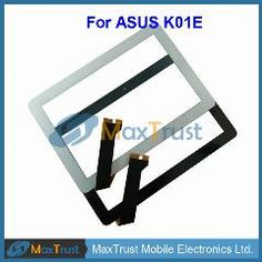 """[ 23% OFF ] 10.1"""" For Asus K01E Touch Screen Digitizer Front Glass Panel Sensor Black White Color"""